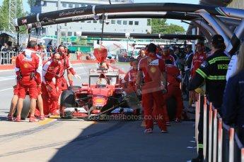 World © Octane Photographic Ltd. Scuderia Ferrari SF15-T– Sebastian Vettel. Saturday 6th June 2015, F1 Canadian GP Practice 3 pitlane, Circuit Gilles Villeneuve, Montreal, Canada. Digital Ref: 1295LB1D1537