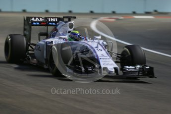 World © Octane Photographic Ltd. Williams Martini Racing FW37 – Felipe Massa. Friday 18th September 2015, F1 Singapore Grand Prix Practice 1, Marina Bay. Digital Ref: