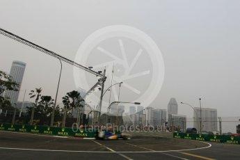 World © Octane Photographic Ltd. Sauber F1 Team C34-Ferrari – Felipe Nasr. Friday 18th September 2015, F1 Singapore Grand Prix Practice 1, Marina Bay. Digital Ref: