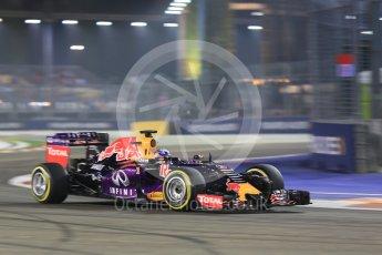 World © Octane Photographic Ltd. Infiniti Red Bull Racing RB11 – Daniel Ricciardo. Friday 18th September 2015, F1 Singapore Grand Prix Practice 2, Marina Bay. Digital Ref: 1429CB5D0311