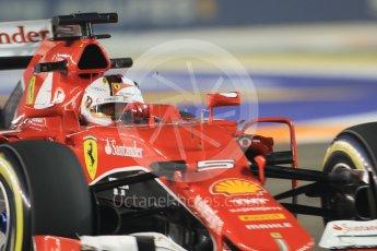 World © Octane Photographic Ltd. Scuderia Ferrari SF15-T– Sebastian Vettel. Friday 18th September 2015, F1 Singapore Grand Prix Practice 2, Marina Bay. Digital Ref: 1429CB7D0489