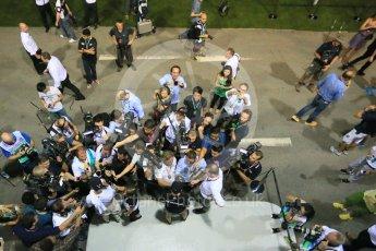World © Octane Photographic Ltd. Mercedes AMG Petronas F1 W06 Hybrid – Lewis Hamilton and Nico Rosberg. Friday 18th September 2015, F1 Singapore Grand Prix Practice 2, Marina Bay. Digital Ref: 1429LB1D6900