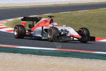 World © Octane Photographic Ltd. Manor Marussia F1 Team – William Stevens. Saturday 9th May 2015, F1 Spanish GP Practice 3, Circuit de Barcelona-Catalunya, Spain. Digital Ref: 1256CB7D7542