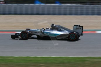 World © Octane Photographic Ltd. Mercedes AMG Petronas F1 W06 Hybrid – Lewis Hamilton. Saturday 9th May 2015, F1 Spanish GP Qualifying, Circuit de Barcelona-Catalunya, Spain. Digital Ref: 1257CB7D7953