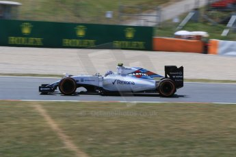 World © Octane Photographic Ltd. Williams Martini Racing FW37 – Valtteri Bottas. Saturday 9th May 2015, F1 Spanish GP Qualifying, Circuit de Barcelona-Catalunya, Spain. Digital Ref: 1257CB7D7988
