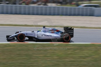 World © Octane Photographic Ltd. Williams Martini Racing FW37 – Felipe Massa. Saturday 9th May 2015, F1 Spanish GP Qualifying, Circuit de Barcelona-Catalunya, Spain. Digital Ref: 1257CB7D8004