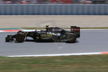 World © Octane Photographic Ltd. Lotus F1 Team E23 Hybrid – Pastor Maldonado. Saturday 9th May 2015, F1 Spanish GP Qualifying, Circuit de Barcelona-Catalunya, Spain. Digital Ref: 1257CB7D8016