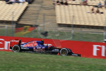 World © Octane Photographic Ltd. Scuderia Toro Rosso STR10 – Carlos Sainz Jnr. Saturday 9th May 2015, F1 Spanish GP Qualifying, Circuit de Barcelona-Catalunya, Spain. Digital Ref: 1257LW1L8052