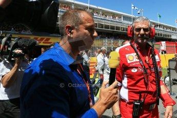 World © Octane Photographic Ltd. Scuderia Ferrari - Maurizio Arrivabene. Sunday 10th May 2015, F1 Spanish GP Formula 1 Grid, Circuit de Barcelona-Catalunya, Spain. Digital Ref: 1264LB1D0157