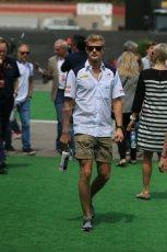 World © Octane Photographic Ltd. Sauber F1 Team C34-Ferrari – Marcus Ericsson. Sunday 10th May 2015, F1 Spanish GP Formula 1 Paddock, Circuit de Barcelona-Catalunya, Spain. Digital Ref: 1264LB1D9984
