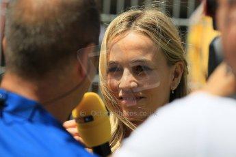 World © Octane Photographic Ltd. Lotus F1 Team Reserve Driver – Carmen Jorda. Sunday 10th May 2015, F1 Spanish GP Formula 1 Grid, Circuit de Barcelona-Catalunya, Spain. Digital Ref: 1264LW1L8402