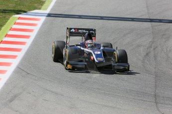 World © Octane Photographic Ltd. Friday 8th May 2015. Russian Time – Mitch Evans. GP2 Qualifying – Circuit de Barcelona–Catalunya. Spain. Digital Ref. : 1252CB5D1325