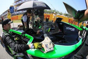 World © Octane Photographic Ltd. Saturday 9th May 2015. Status Grand Prix – Marlon Stockinger. GP2 Race 1 – Circuit de Barcelona–Catalunya. Spain. Digital Ref: