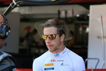 World © Octane Photographic Ltd. Saturday 9th May 2015. Lazarus – Zoel Amberg. GP2 Race 1 – Circuit de Barcelona–Catalunya. Spain. Digital Ref: