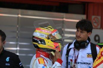 World © Octane Photographic Ltd. Saturday 9th May 2015. Campos Racing – Rio Haryanto. GP2 Race 1 – Circuit de Barcelona–Catalunya. Spain. Digital Ref: