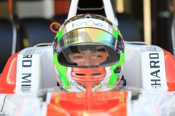 World © Octane Photographic Ltd. Friday 8th May 2015. ART Grand Prix – Alfonso Celis Jr. GP3 Practice – Circuit de Barcelona–Catalunya. Spain. Digital Ref. 1253CB1L6868