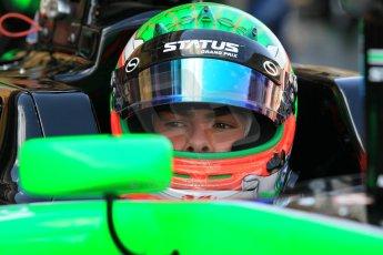 World © Octane Photographic Ltd. Friday 8th May 2015. Status Grand Prix – Seb Morris. GP3 Practice – Circuit de Barcelona–Catalunya. Spain. Digital Ref. : 1253CB1L6879