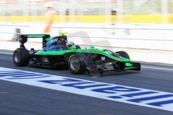 World © Octane Photographic Ltd. Friday 8th May 2015. Status Grand Prix – Alex Fontana GP3 Practice – Circuit de Barcelona–Catalunya. Spain. Digital Ref. : 1253CB1L6987