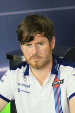 World © Octane Photographic Ltd. Rob Smedley – Williams - Head of Vehicle Performance. Friday 8th May 2015, F1 Spanish GP. Team Press Conference, Circuit de Barcelona-Catalunya, Spain. Digital Ref: 1254LB7D6795