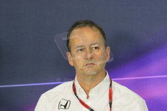 World © Octane Photographic Ltd. Jonathan Neale - McLaren Honda Managing Director. Friday 8th May 2015, F1 Spanish GP. Team Press Conference, Circuit de Barcelona-Catalunya, Spain. Digital Ref: 1254LB7D6869