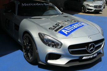 World © Octane Photographic Ltd. Mercedes AMG GTS Safety Car. Thursday 7th May 2015, F1 Spanish GP Pitlane, Circuit de Barcelona-Catalunya, Spain. Digital Ref: 1244CB1L5873