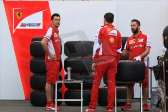 World © Octane Photographic Ltd. Scuderia Ferrari SF15-T– Kimi Raikkonen. Thursday 7th May 2015, F1 Spanish GP Paddock, Circuit de Barcelona-Catalunya, Spain. Digital Ref: 1244CB7D1215
