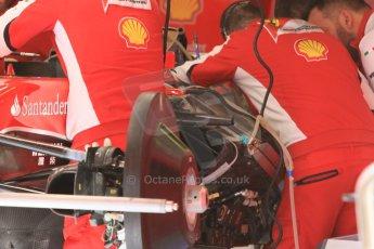 World © Octane Photographic Ltd. Scuderia Ferrari SF15-T. Thursday 7th May 2015, F1 Spanish GP Pitlane, Circuit de Barcelona-Catalunya, Spain. Digital Ref: 1244CB7D1251