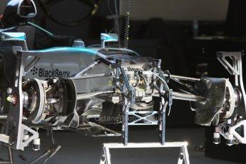 World © Octane Photographic Ltd. Mercedes AMG Petronas F1 W06 Hybrid. Thursday 7th May 2015, F1 Spanish GP Pitlane, Circuit de Barcelona-Catalunya, Spain. Digital Ref: 1244CB7D1274