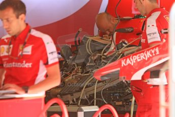 World © Octane Photographic Ltd. Scuderia Ferrari SF15-T. Thursday 7th May 2015, F1 Spanish GP Pitlane, Circuit de Barcelona-Catalunya, Spain. Digital Ref: 1244CB7D1286