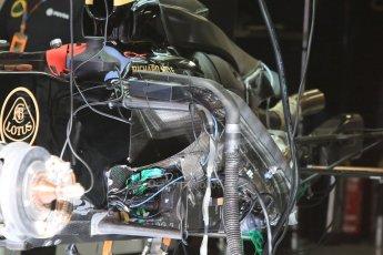 World © Octane Photographic Ltd. Lotus F1 Team E23 Hybrid. Thursday 7th May 2015, F1 Spanish GP Pitlane, Circuit de Barcelona-Catalunya, Spain. Digital Ref: 1244CB7D1326