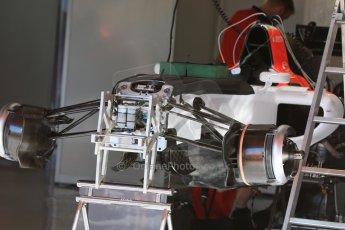 World © Octane Photographic Ltd. Manor Marussia F1 Team. Thursday 7th May 2015, F1 Spanish GP Pitlane, Circuit de Barcelona-Catalunya, Spain. Digital Ref: 1244CB7D1336