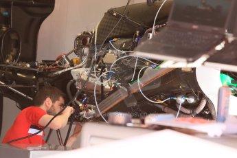 World © Octane Photographic Ltd. Manor Marussia F1 Team. Thursday 7th May 2015, F1 Spanish GP Pitlane, Circuit de Barcelona-Catalunya, Spain. Digital Ref: 1244CB7D1339