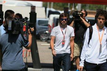 World © Octane Photographic Ltd. McLaren Honda MP4/30 – Fernando Alonso. Thursday 7th May 2015, F1 Spanish GP Paddock, Circuit de Barcelona-Catalunya, Spain. Digital Ref: 1244LB1D5500