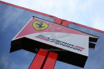 World © Octane Photographic Ltd. Scuderia Ferrari. Thursday 7th May 2015, F1 Spanish GP Paddock, Circuit de Barcelona-Catalunya, Spain. Digital Ref: 1244LB5D0439