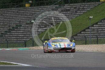 World © Octane Photographic Ltd. FIA World Endurance Championship (WEC), 6 Hours of Nurburgring , Germany - Practice, Friday 28th August 2015. AF Corse – Ferrari F458 Italia GT2 - LMGTE Pro – Davide Rigon and James Calado. Digital Ref : 1392LB1D3632