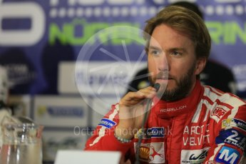 World © Octane Photographic Ltd. FIA World Endurance Championship (WEC), 6 Hours of Nurburgring , Germany - Qualifying Press Conference, Saturday 29th August 2015. Rebellion Racing – Rebellion R-One - LMP1 - Nick Heidfeld. Digital Ref : 1397LB5D1148