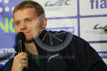 World © Octane Photographic Ltd. FIA World Endurance Championship (WEC), 6 Hours of Nurburgring , Germany - Qualifying Press Conference, Saturday 29th August 2015. SMP Racing – Ferrari F458 Italia GT2 - LMGTE Am – Viktor Shaitar. Digital Ref : 1397LB5D1159
