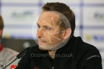 World © Octane Photographic Ltd. FIA World Endurance Championship (WEC), 6 Hours of Nurburgring , Germany - Press Conference, Friday 28th August 2015. Dempsey-Proton Racing – Marco Seefried. Digital Ref : 1393LB5D0234