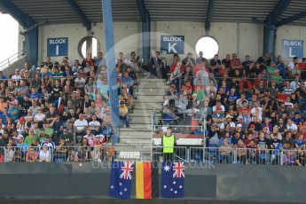 World © Octane Photographic Ltd. FIA World Endurance Championship (WEC), 6 Hours of Nurburgring , Germany - Qualifying, Saturday 29th August 2015. Fans in the grandstands. Digital Ref : 1396LB5D0932