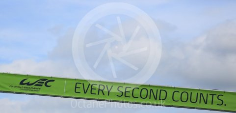 """World © Octane Photographic Ltd. FIA World Endurance Championship (WEC), 6 Hours of Nurburgring , Germany - Qualifying, Saturday 29th August 2015. """"Every Second Counts"""" banner. Digital Ref : 1396LB5D1102"""