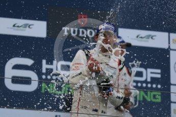 World © Octane Photographic Ltd. FIA World Endurance Championship (WEC), 6 Hours of Nurburgring , Germany - Race podium, Sunday 30th August 2015. Porsche Team – Porsche 919 Hybrid - LMP1 - Timo Bernhard, Mark Webber and Brendon Hartley. Digital Ref : 1399LB5D2289