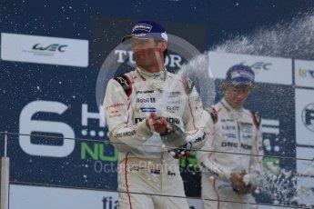 World © Octane Photographic Ltd. FIA World Endurance Championship (WEC), 6 Hours of Nurburgring , Germany - Race podium, Sunday 30th August 2015. Porsche Team – Porsche 919 Hybrid - LMP1 - Mark Webber (1st). Digital Ref : 1399LB5D2291