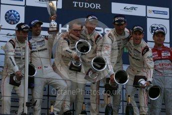World © Octane Photographic Ltd. FIA World Endurance Championship (WEC), 6 Hours of Nurburgring , Germany - Race podium, Sunday 30th August 2015. Porsche Team – Porsche 919 Hybrid - LMP1 - Mark Webber (1st). Digital Ref : 1399LB5D2350
