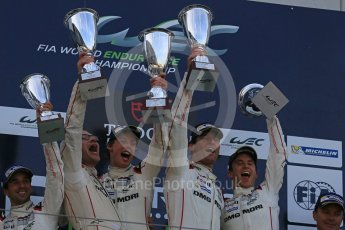 World © Octane Photographic Ltd. FIA World Endurance Championship (WEC), 6 Hours of Nurburgring , Germany - Race podium, Sunday 30th August 2015. Porsche Team – Porsche 919 Hybrid - LMP1 - Mark Webber (1st). Digital Ref : 1399LB5D2358