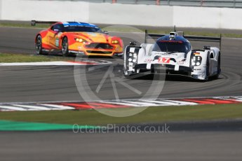 World © Octane Photographic Ltd. FIA World Endurance Championship (WEC), 6 Hours of Nurburgring , Germany - Race, Sunday 30th August 2015. Porsche Team – Porsche 919 Hybrid - LMP1 - Timo Bernhard, Mark Webber and Brendon Hartley and Aston Martin Racing V8 – Aston Martin Vantage V8 - LMGTE Pro – Fernando Rees, Alex MacDowell and Richie Stanaway. Digital Ref : 1398LB1D6769