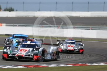 World © Octane Photographic Ltd. FIA World Endurance Championship (WEC), 6 Hours of Nurburgring , Germany - Race, Sunday 30th August 2015. Audi Sport Team Joest- Audi R18 e-tron Quatrro - LMP1 - Oliver Jarvis, Lucas di Grassi and Loic Duval ahead of Andre Lotterer, Benoit Treluyer and Marcel Fassler. Digital Ref : 1398LB1D6780