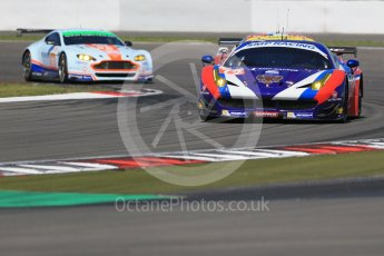World © Octane Photographic Ltd. FIA World Endurance Championship (WEC), 6 Hours of Nurburgring , Germany - Race, Sunday 30th August 2015. SMP Racing – Ferrari F458 Italia GT2 - LMGTE Am – Viktor Shaitar, Aleksey Basov and Andrea Bertolini and Aston Martin Racing - Aston Martin Vantage GTE – LMGTE Am – Paul Dalla Lana, Pedro Lamy and Mathias Lauda. Digital Ref :