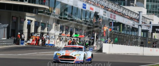 World © Octane Photographic Ltd. FIA World Endurance Championship (WEC), 6 Hours of Nurburgring , Germany - Race, Sunday 30th August 2015. Aston Martin Racing – Aston Martin Vantage V8 - LMGTE Pro – Marco Sorensen and Christoffer Nygaard. Digital Ref : 1398LB1D7071