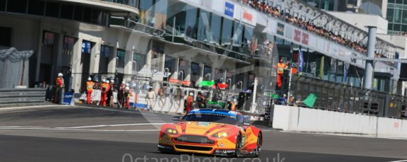 World © Octane Photographic Ltd. FIA World Endurance Championship (WEC), 6 Hours of Nurburgring , Germany - Race, Sunday 30th August 2015. Aston Martin Racing V8 – Aston Martin Vantage V8 - LMGTE Pro – Fernando Rees, Alex MacDowell and Richie Stanaway. Digital Ref : 1398LB1D7075