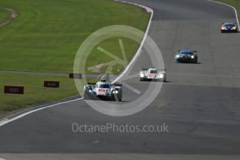 World © Octane Photographic Ltd. FIA World Endurance Championship (WEC), 6 Hours of Nurburgring , Germany - Race, Sunday 30th August 2015. Audi Sport Team Joest- Audi R18 e-tron Quatrro - LMP1 - Andre Lotterer, Benoit Treluyer and Marcel Fassler and Rebellion Racing – Rebellion R-One - LMP1 - Nicolas Prost, Nick Heidfeld and Mathias Beche. Digital Ref : 1398LB1D7341